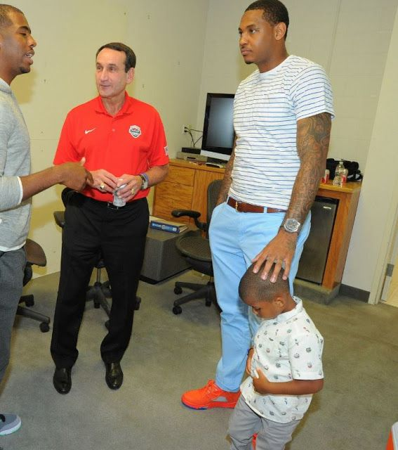 969788cf8ee ... real carmelo anthony wearing air jordan melo 5 sneakers e5206 389ef