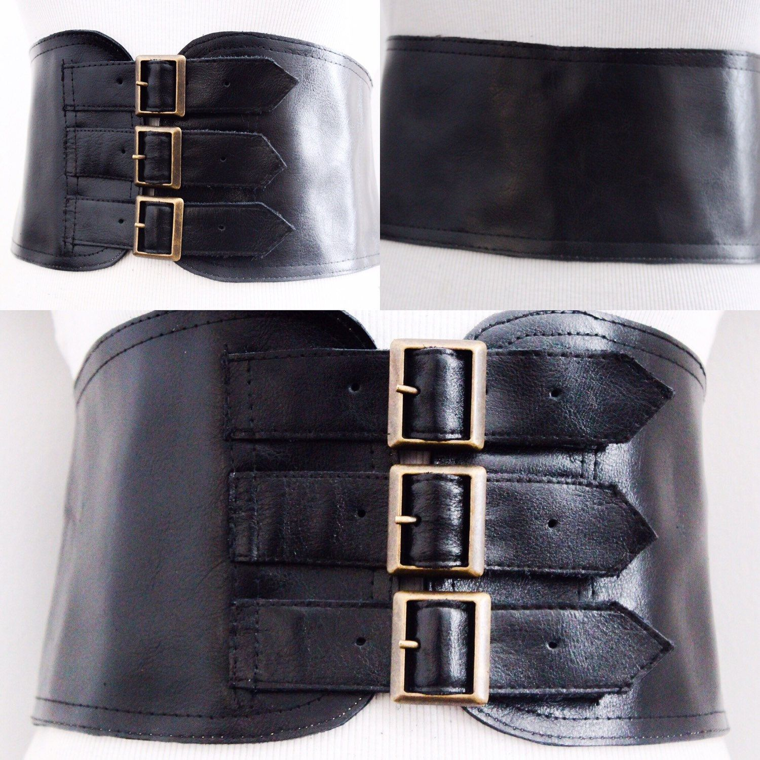 9661db71b6 NEW BELT ALERT! Black Wide Three Buckle Corset Belt available in all sizes  Any colour can be made into this belt CUSTOM ORDERS WELCOME!!! ...