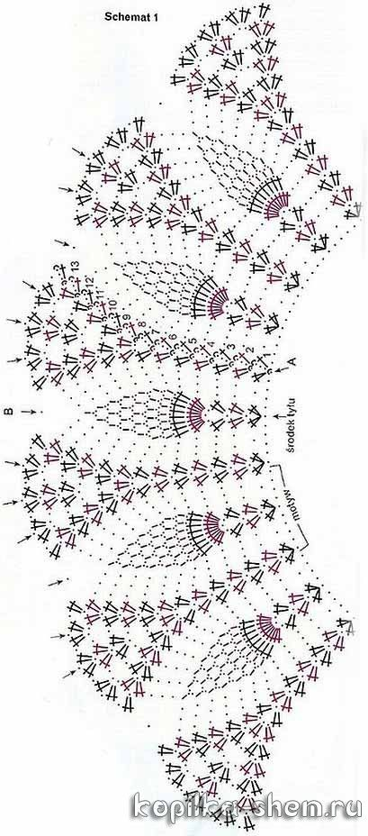 интересное платье крючком схемы вязания салфетки скатерти
