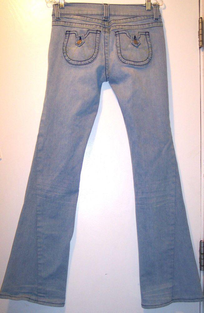 Allen Schwartz Jeans 30 Stretch Twisted Leg Chambray Premium Denim Pant Waist-30 #AllenSchwartz #Flare