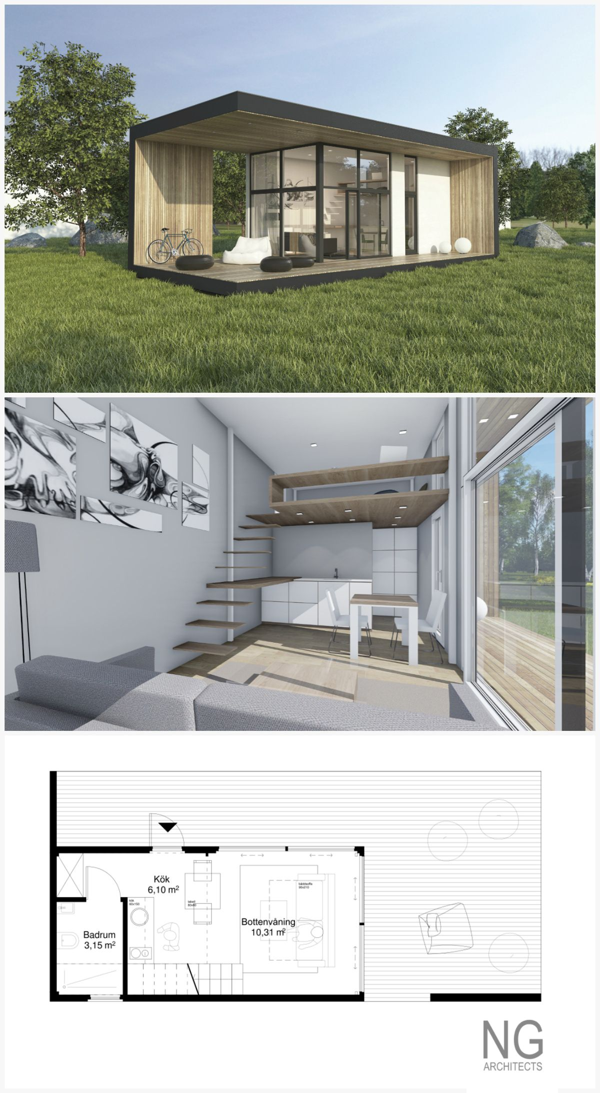 25 Small Living Room Ideas For Your Inspiration: 25 M Small House (attafallshus) Designed By NG