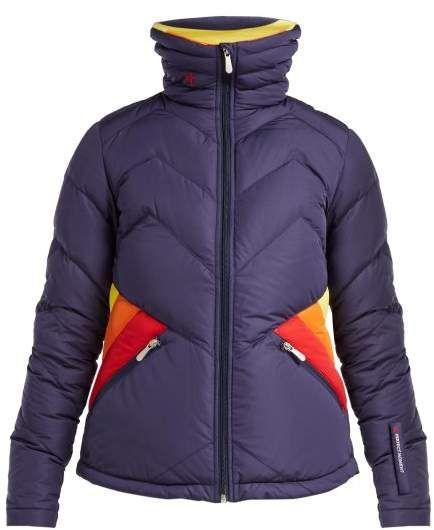 fe4ffb56bb3 Perfect Moment - Apres Duvet Down Filled Ski Jacket - Womens - Navy Multi