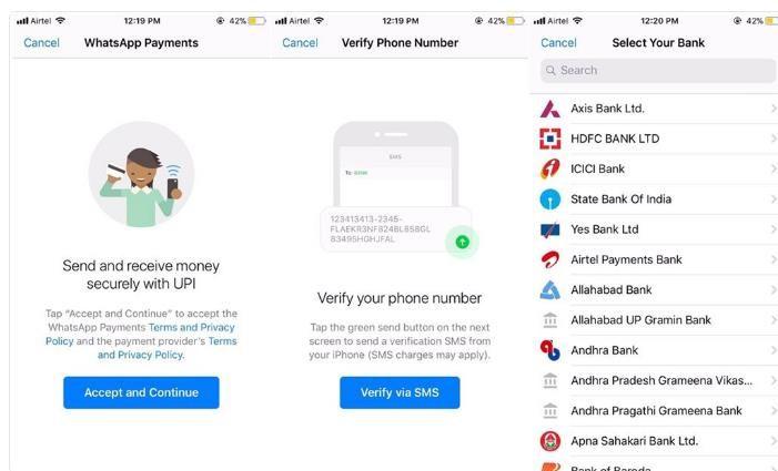 WhatsApp Payments permite enviar y recibir dinero desde