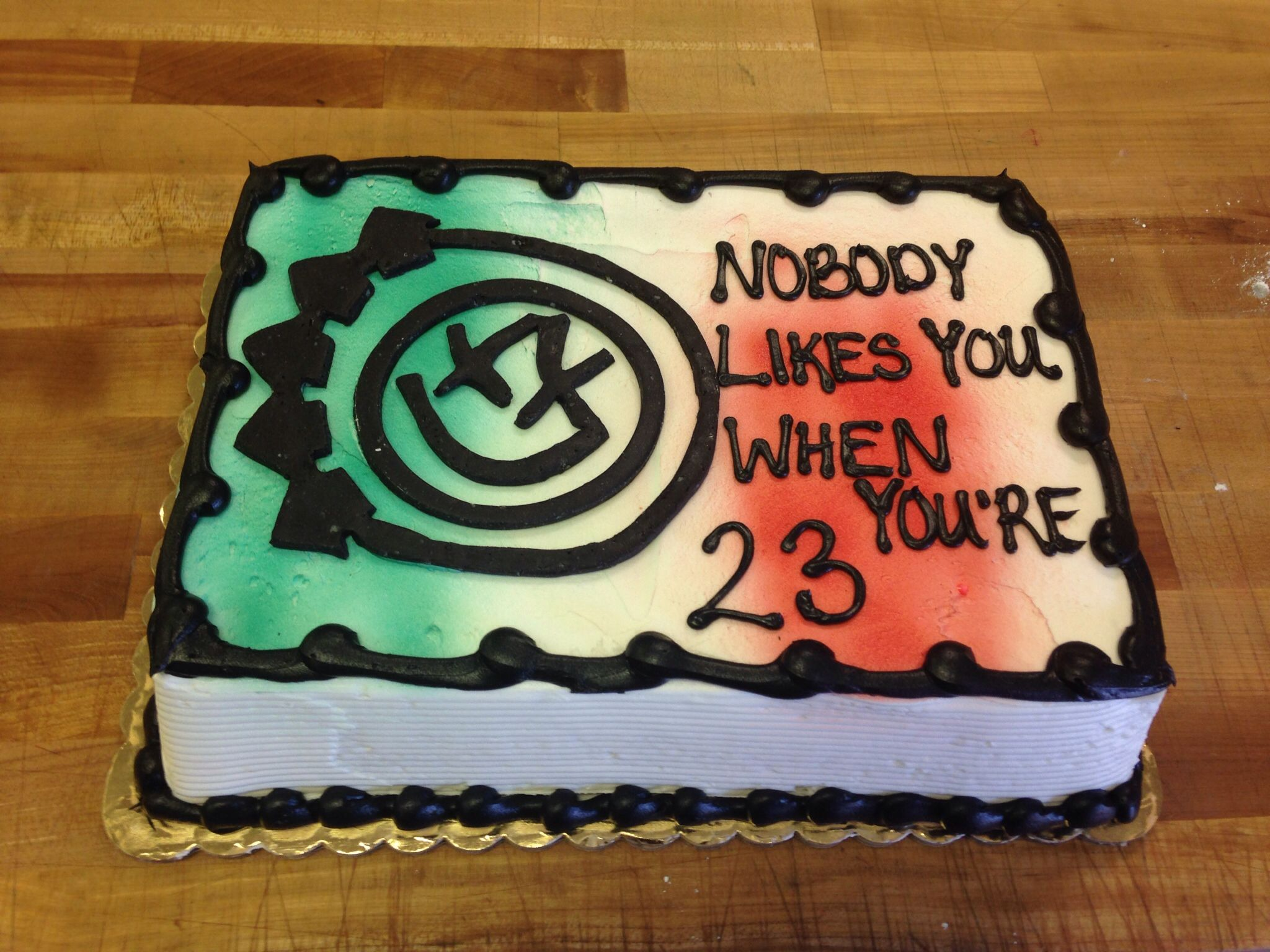 Blink 182 cake for dylans birthday f o o d pinterest blink blink 182 cake for dylans birthday bookmarktalkfo Image collections
