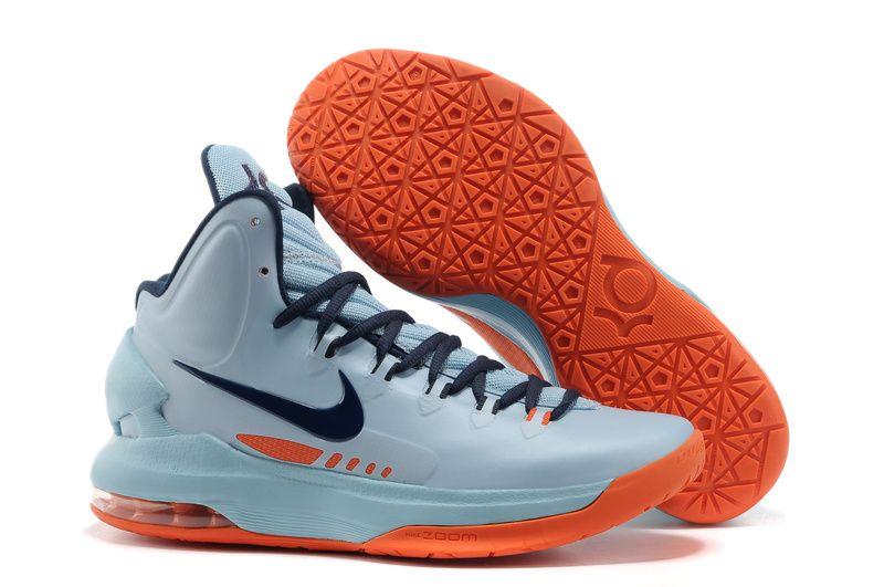 buy popular 9d51f 25fe2 kevin durant shoes 2013 Nike KD V Ice Blue Orange
