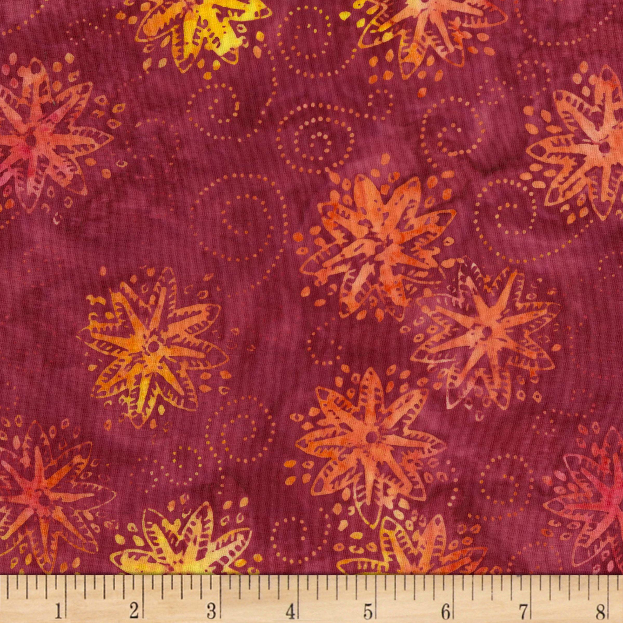 Timeless Treasures Tonga Batik Mini Garnet Pinwheel Jam