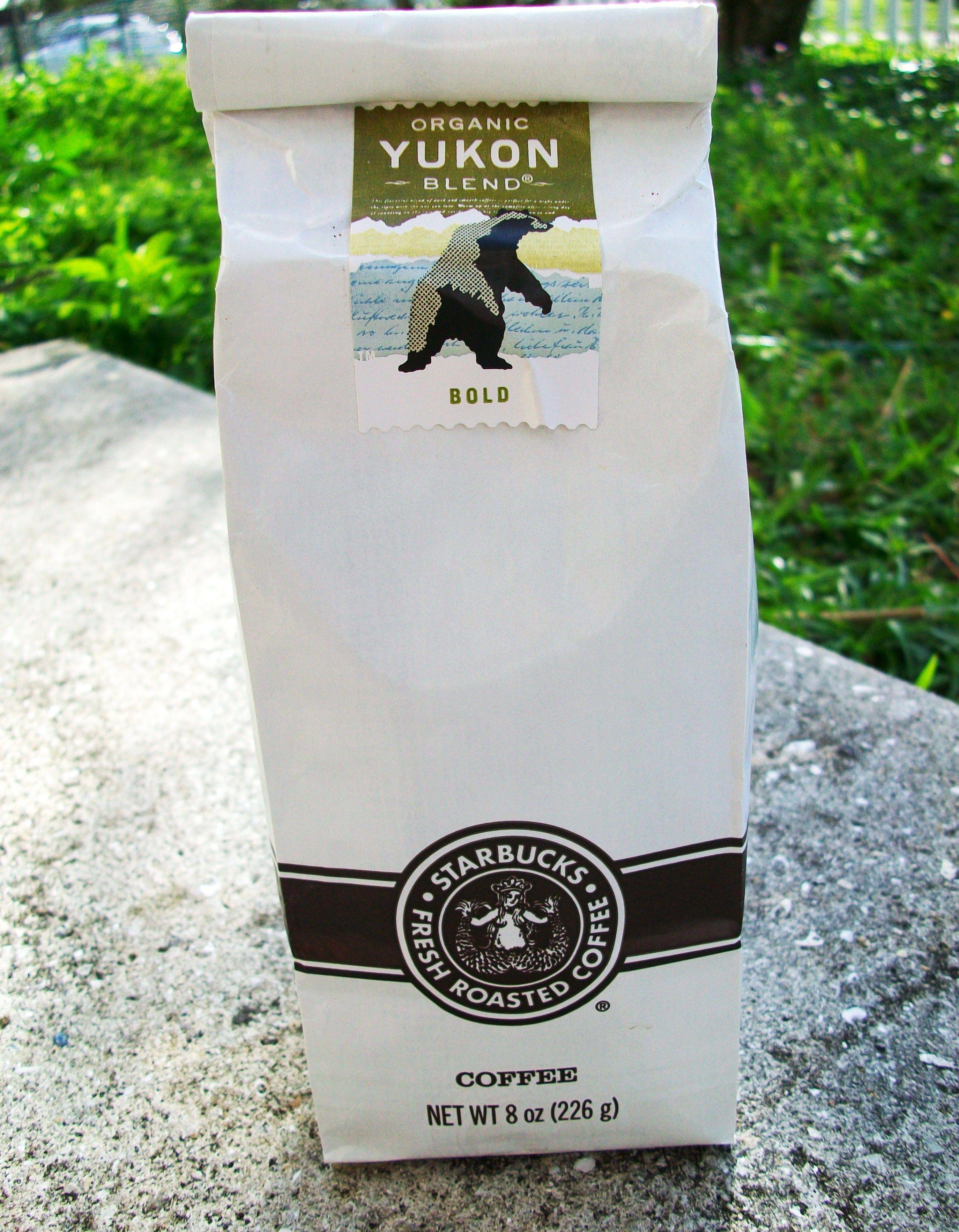 Yukon Blend Coffee packaging, Coffee company, Starbucks