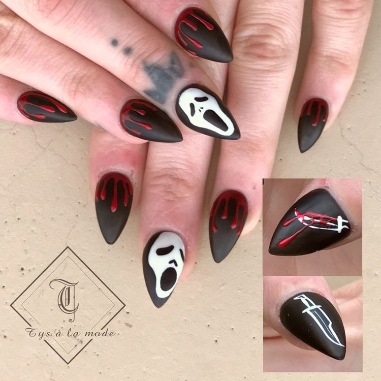 Halloween In 2020 Scary Halloween Nails Design Halloween Nail Designs Halloween Nail Art