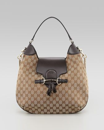 91c4a9326e90 Emily GG Chain-Strap Hobo Bag, Brown by Gucci at Neiman Marcus ...
