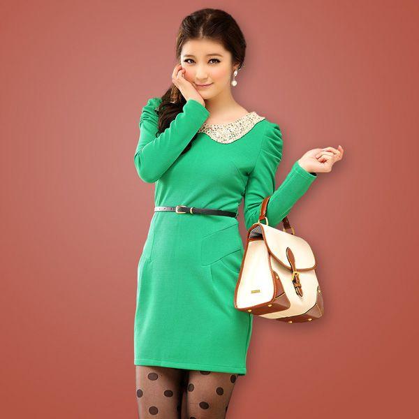 Images of Green Winter Dress - Reikian