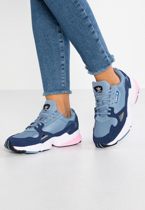 Adidas Originals Falcon Trainers Raw Grey Light Pink Zalando Co Uk Sneakers Casual Shoes Women Women Shoes Flats Oxfords Womens Shoes High Heels