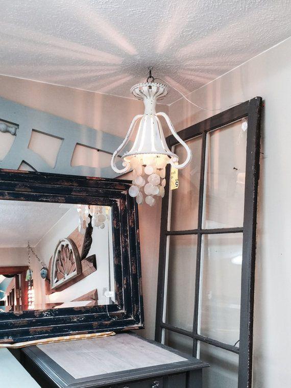 Pics Of Flush Mount Ceiling Light Bathroom Lighting Capiz Shell Light Shabby