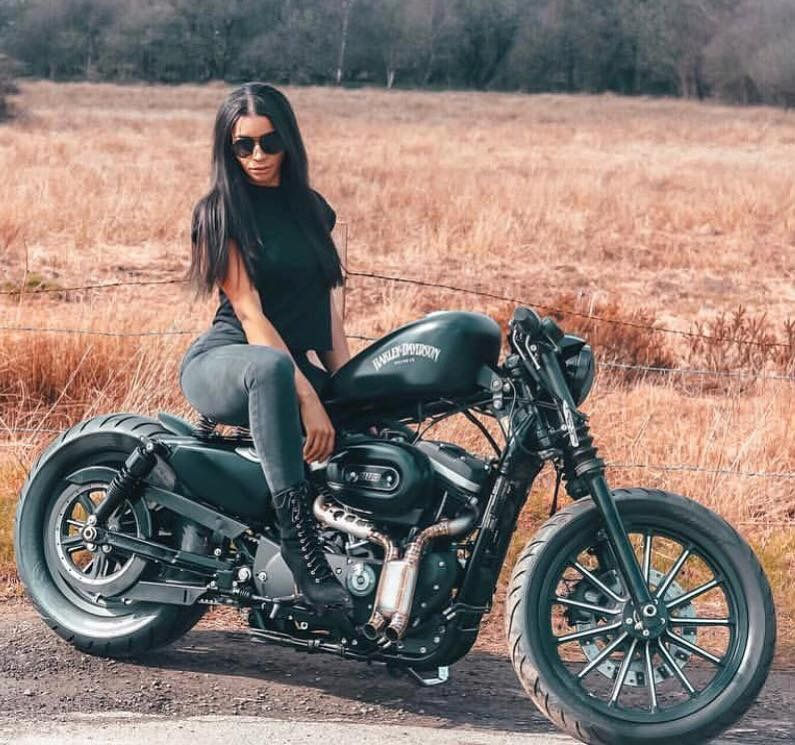 Back In Black With Images Female Motorcycle Riders Women