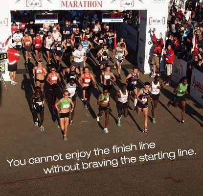 Brave the starting line