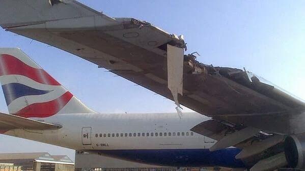 22 December 2013 British Airways Flight 34 A Boeing 747 436 G Bnll Hit A Building At O R Tambo International Aviation Accidents Vintage Aircraft Aircraft