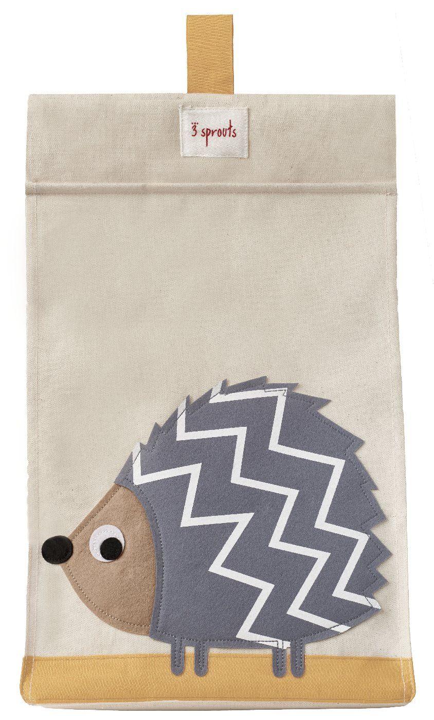 Smart opbevaringspose til bleer med pindsvin fra 3 Sprouts Hvor der ...