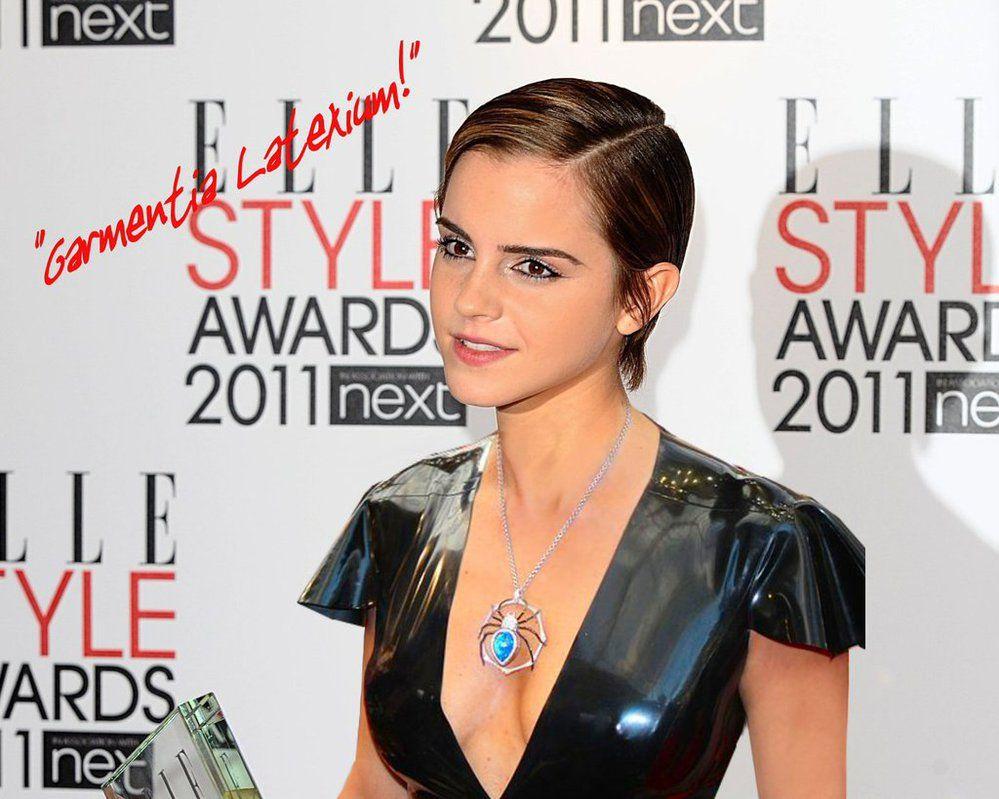 Holly Halston Latex regarding emma watson at elle style awards wearing latexandylatex | emma