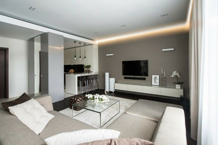 Iluminacion indirecta led salon y salas de estar | Luz led, LED y ...