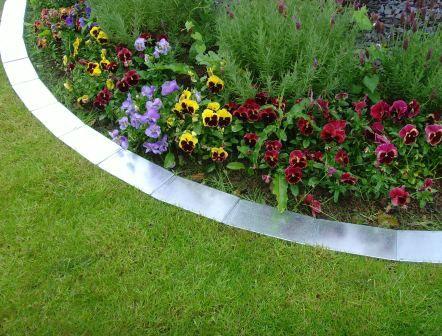 1M Easy Edge Border Edging Strips In Silver Lawn Edging 640 x 480
