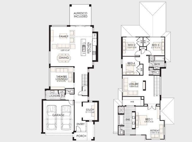 Dise o y planos de casas de dos pisos con ideas para for Planos para casas de dos pisos modernas