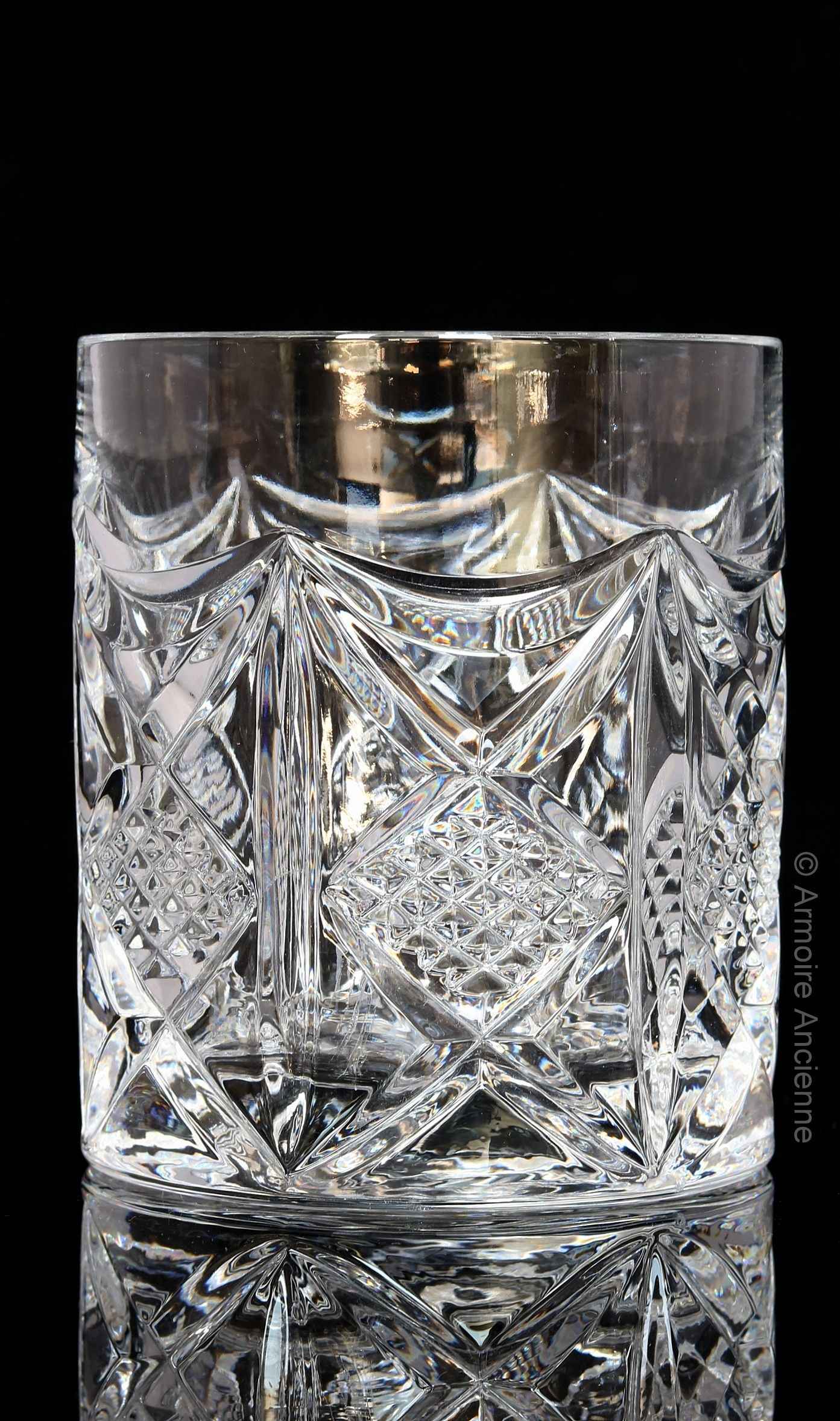 2x Crystal Whiskey Glasses Whisky Low Ball Glasses Old Fashioned Tumblers Crystal Whiskey Glasses Vintage Crystal Glasses Crystal Drinkware
