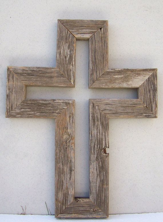 Aged Barnwood Wall Cross Unique One Of A Kind Wood