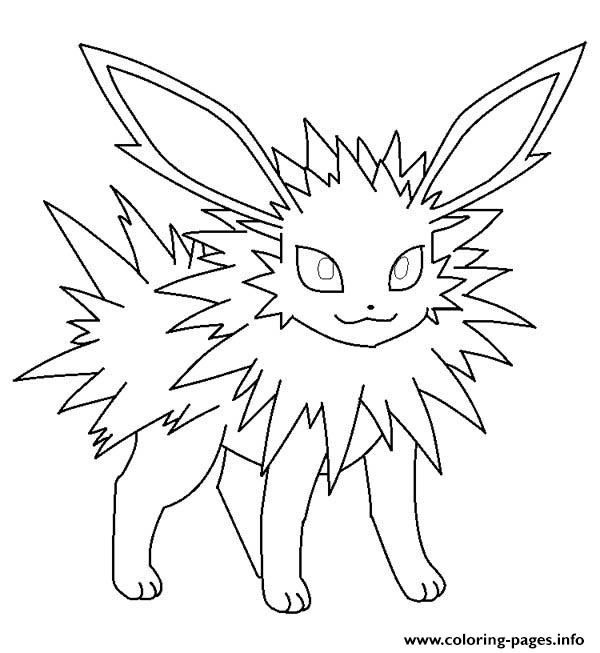 Print Jolteon Eevee Pokemon Coloring Pages Pokemon Coloring