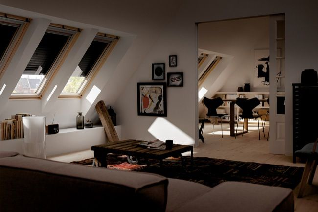 Love the windows in the ceiling!!