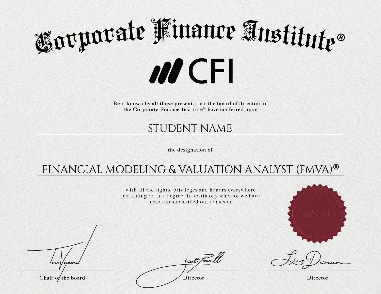 Cfi financial modeling certification financial modeling