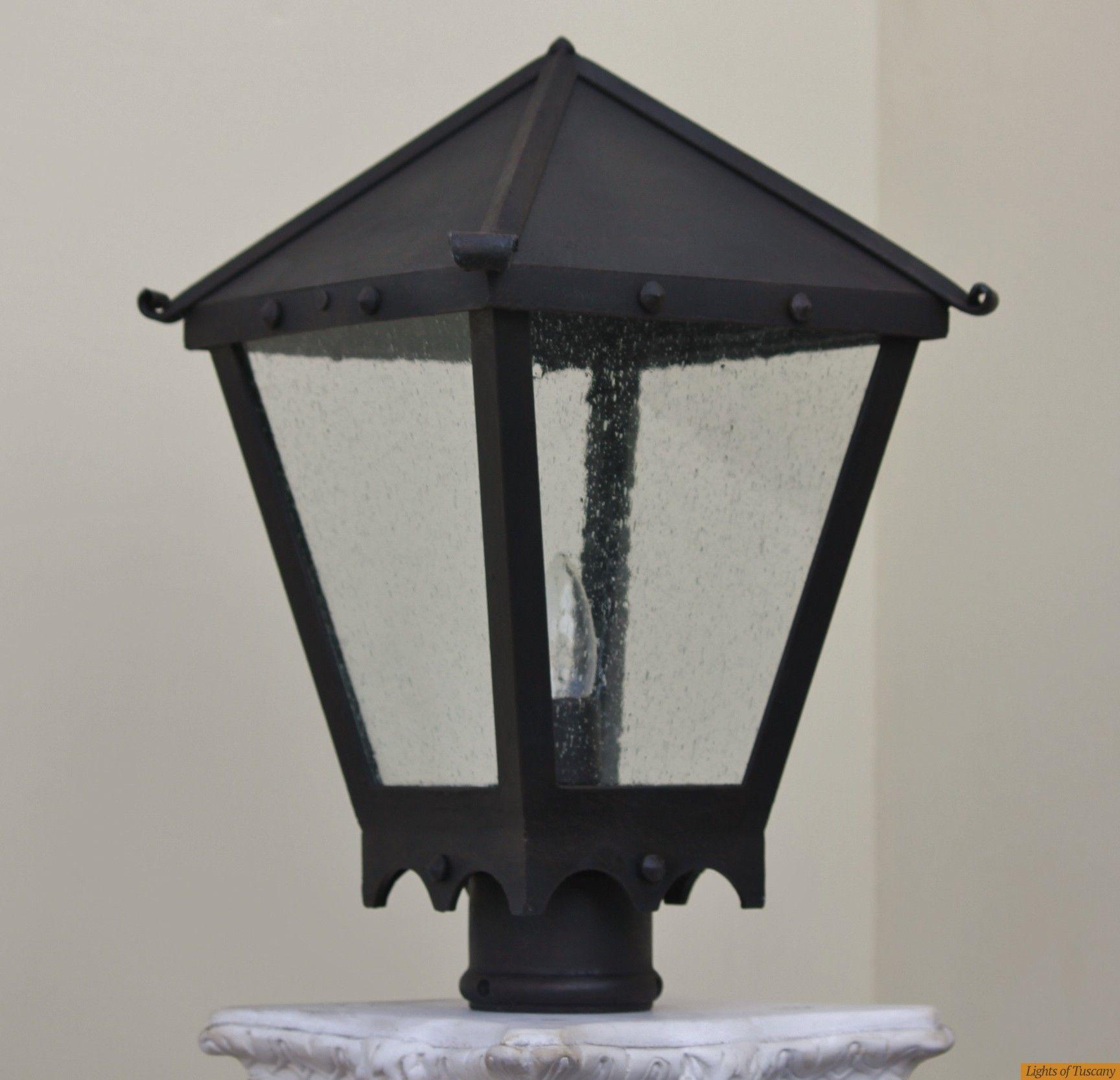 Lights Of Tuscany 7411 1 Spanish Style Post Lamp Outdoor Exterior Post Lighting Outdoor Exterior Fixtures Fixtures Post Lighting Lamp Spanish Style