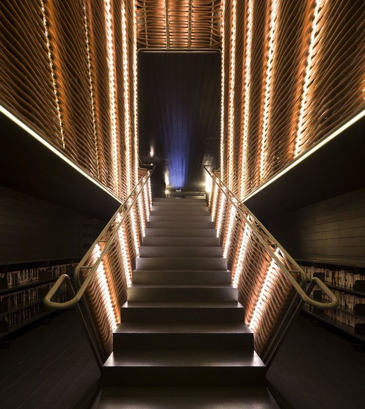 33 Staircase Designs Enriching Modern Interiors With: Slaughterhouse Transformed Into Modern Cinema Center