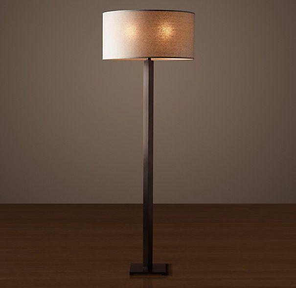 Hexagonal Column Floor Lamp Bronze Floor Lamp Floor Lamp Square Columns