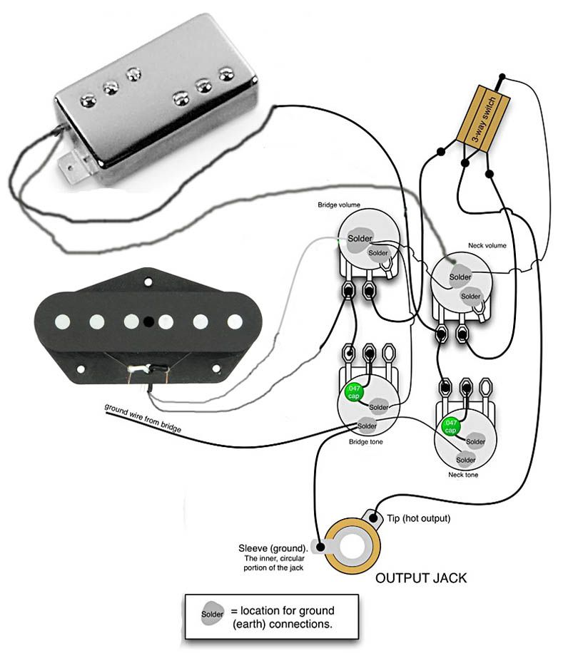 tele wiring diagram 2 humbuckers cigar guitar box wiring for tele custom