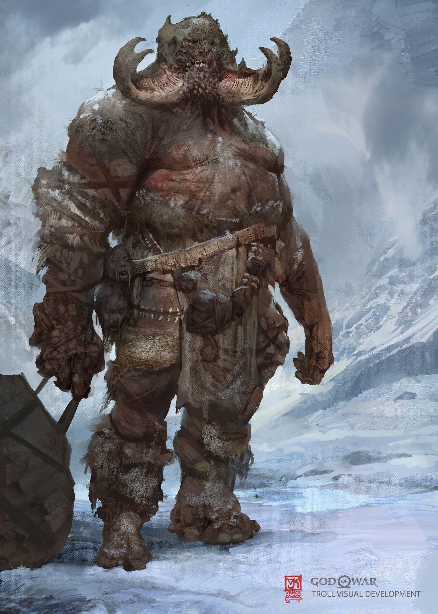 God of War Visual Development- Troll by Vance Kovacs