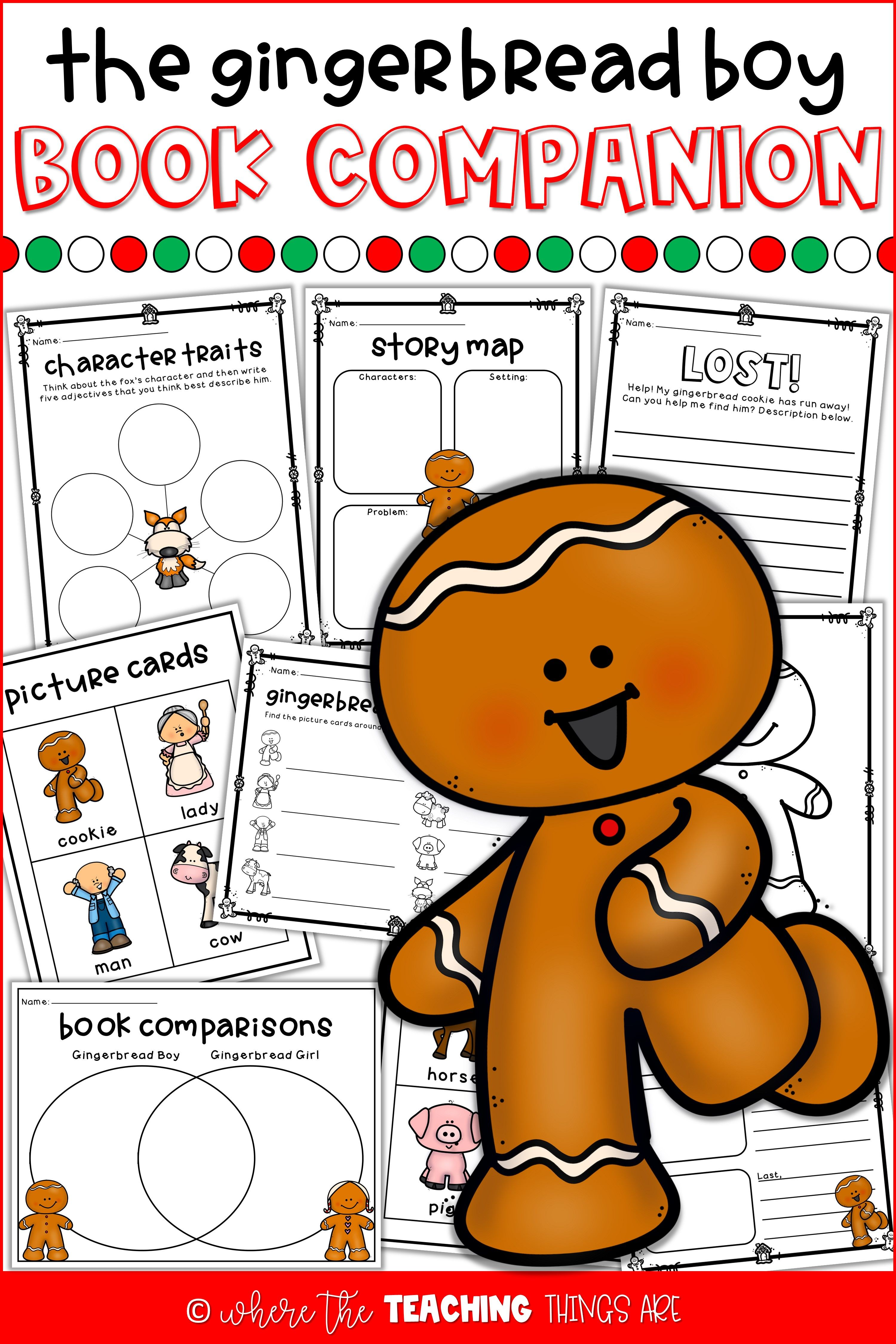 Gingerbread Man Book Companion And Activities