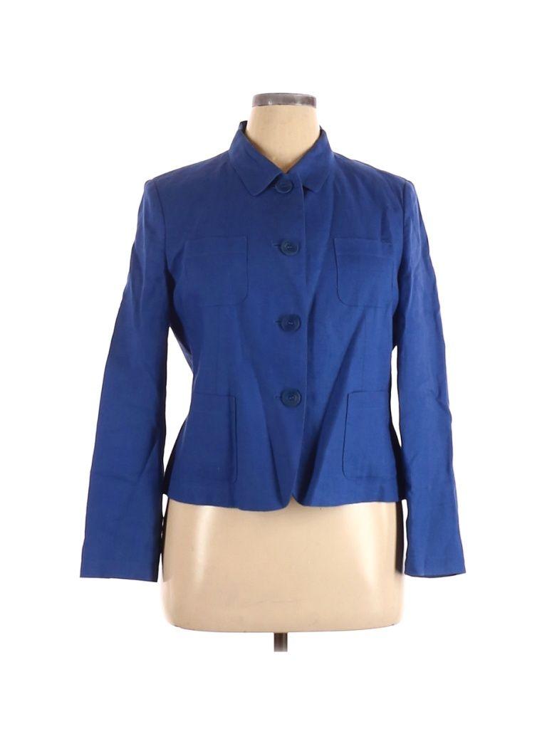 Talbots Blazer Jacket Blue Solid Jackets Outerwear Size 16 Petite In 2021 Outerwear Jackets Outerwear Blazer [ 1024 x 768 Pixel ]