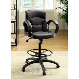For Furniture Of America Dean Drafting Counter Height Pneumatic Adjule Office Chair Get Free
