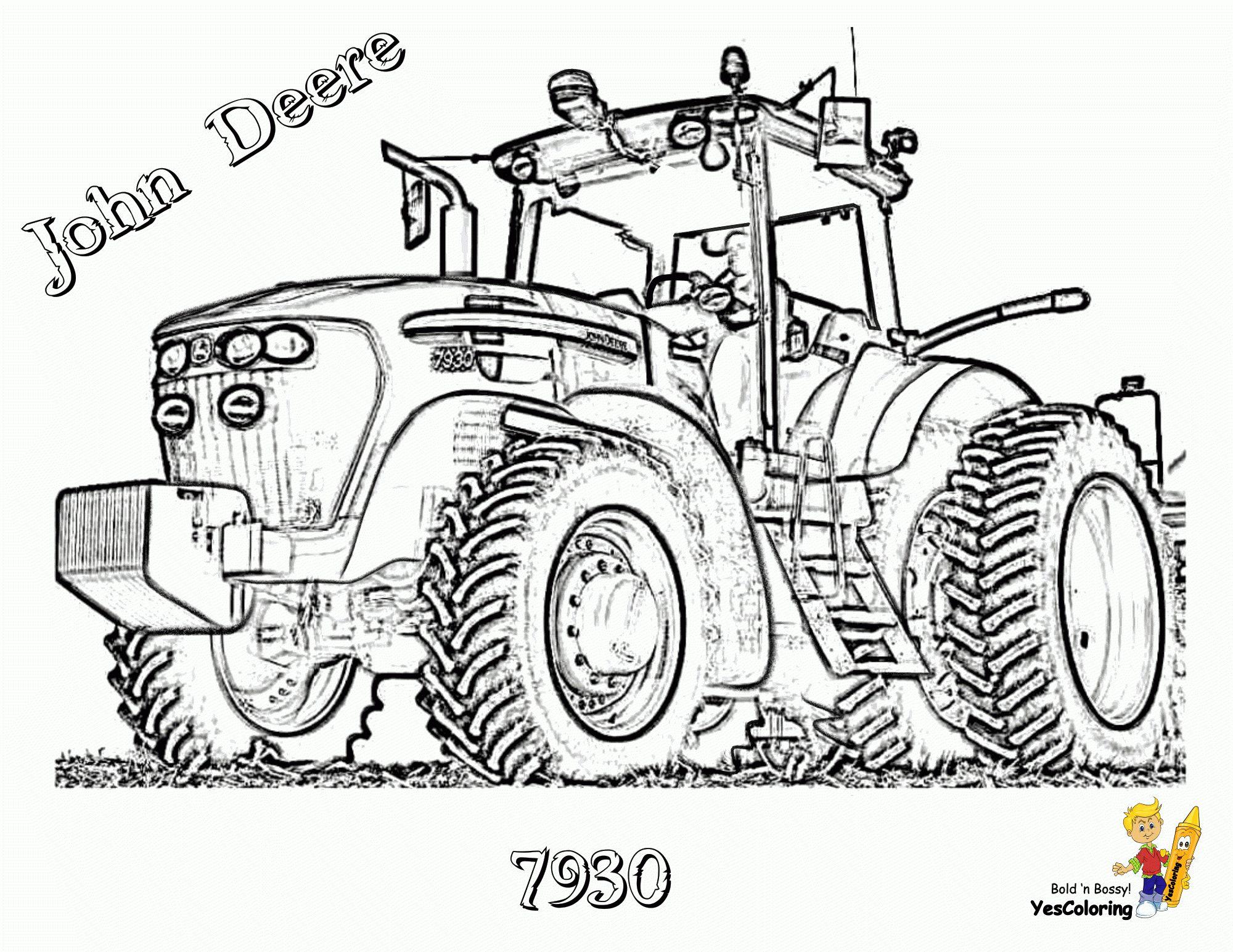Épinglé sur Complex Coloring Pages Tractors John Deere