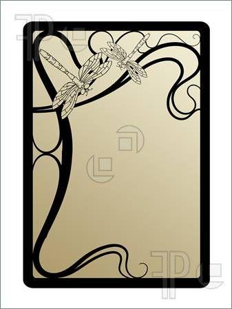 art deco clip free illustration