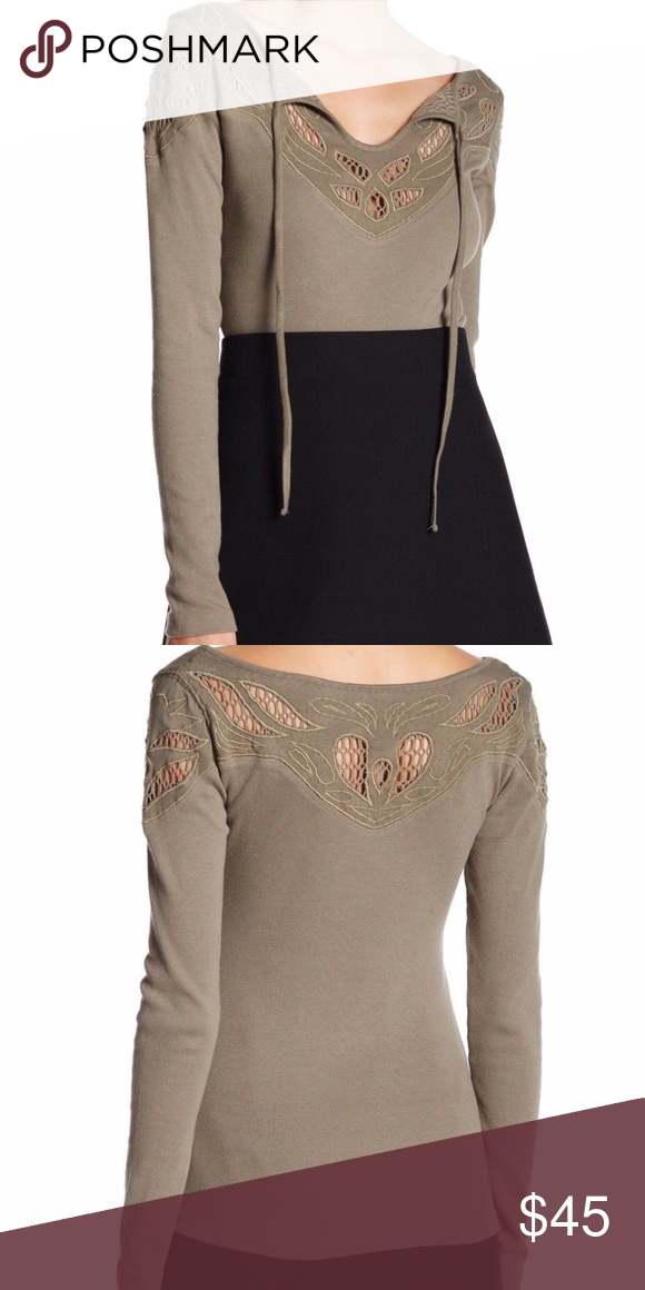 0fca016481 NWT Free People With Love Lace Detail Top Sz M New with Tags Free People  With