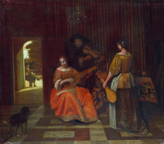 Pieter de Hooch - De muziek partij