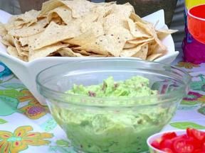 Guacamole recipe jamie deen guacamole recipe and perfect food easy creamy guac verdict really limey but great w fire roasted veggie tortilla forumfinder Image collections