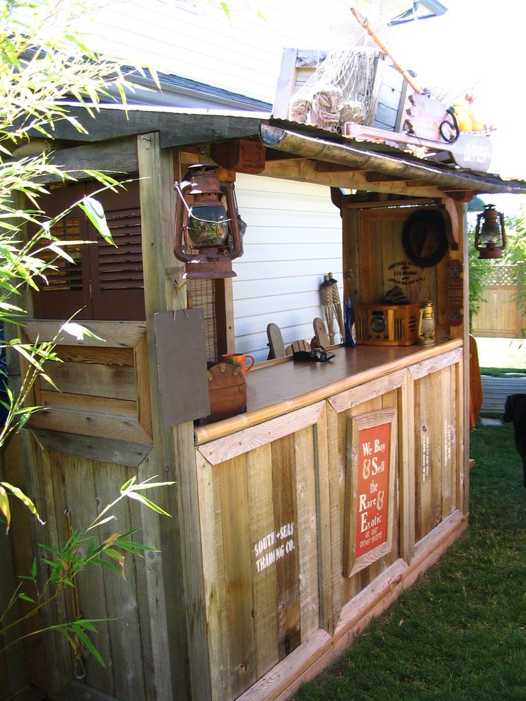 Indiana Jones Style Tiki Bar And Backyard Http Www Instructables