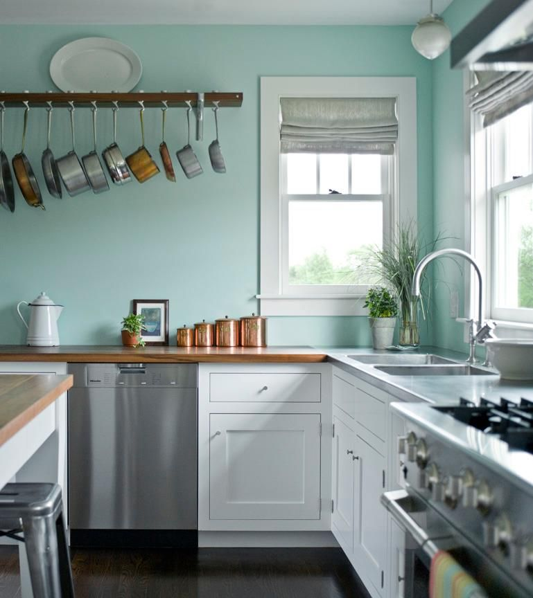 Pale Yellow Kitchen Cabinets: Customer Shaker Kitchen In Duck Egg Blue #LovetoPin