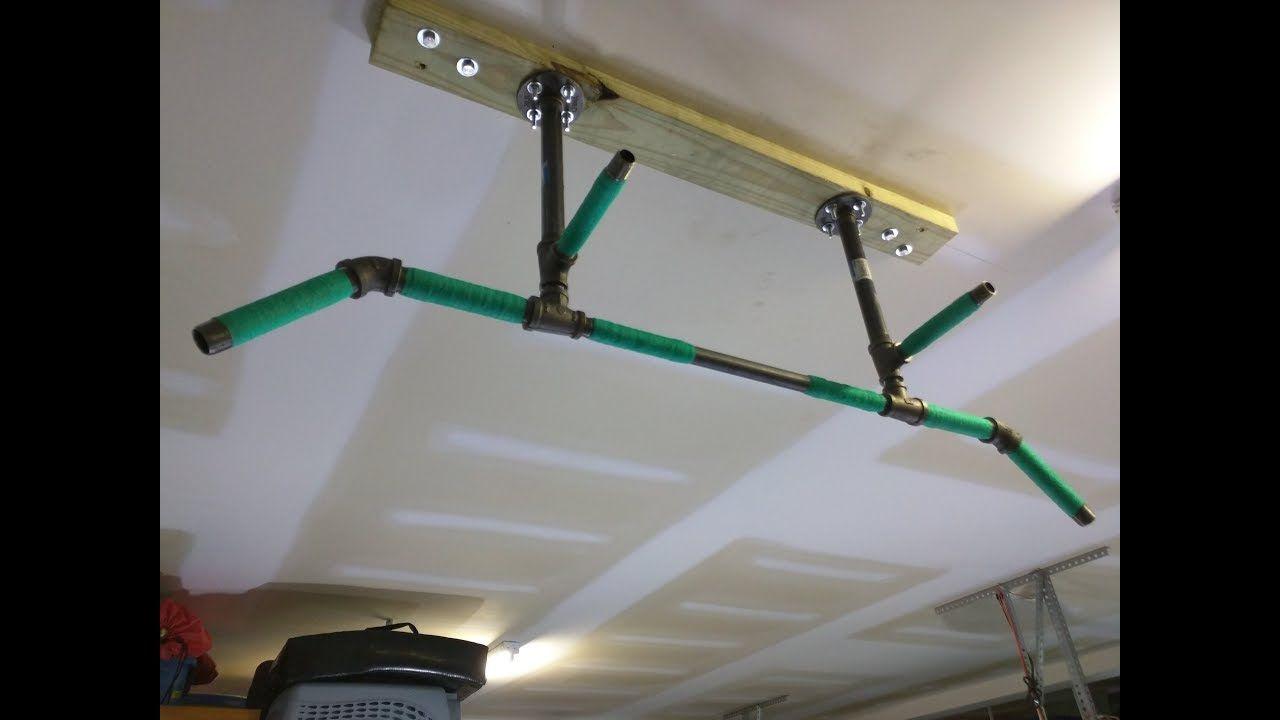 Diy 4 Position Ceiling Mounted Pull Up Bar For Ninja Warrior