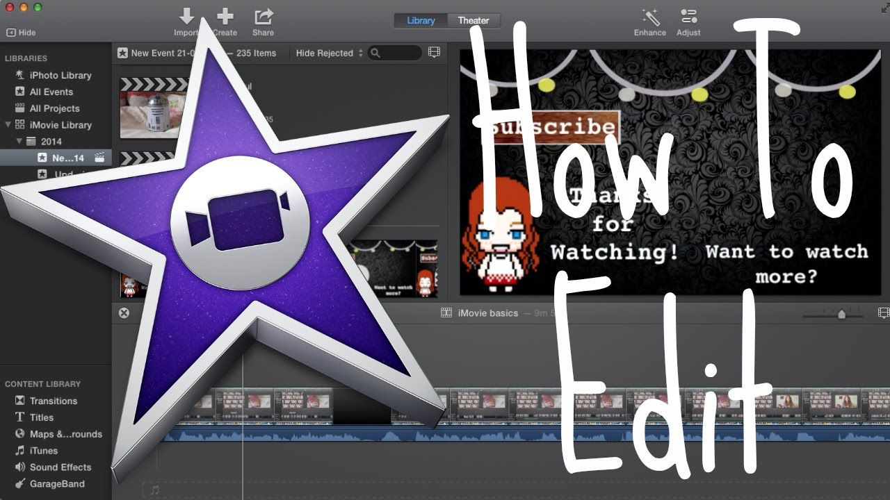 How to video edit imovie basics this video explains the