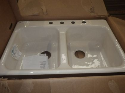 Delightful Kohler Cast Iron Sink Cleaner Enameled Color Samples New Double Basin Big  Reuse The Accessories