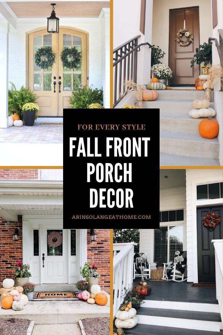 Fall Front Porch Decor #fallfrontporchdecor