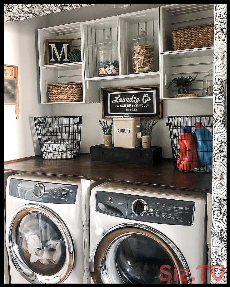 We are in LOVE with this laundry room decor We wouldn 39 t mind doing so much laundry if we could do it here What do you thinkTAWe are in LOVE with this laundry room deco...