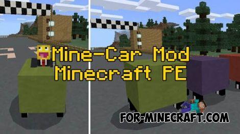 Mine-Car mod for Minecraft PE 0 16 0   sleepover   Minecraft
